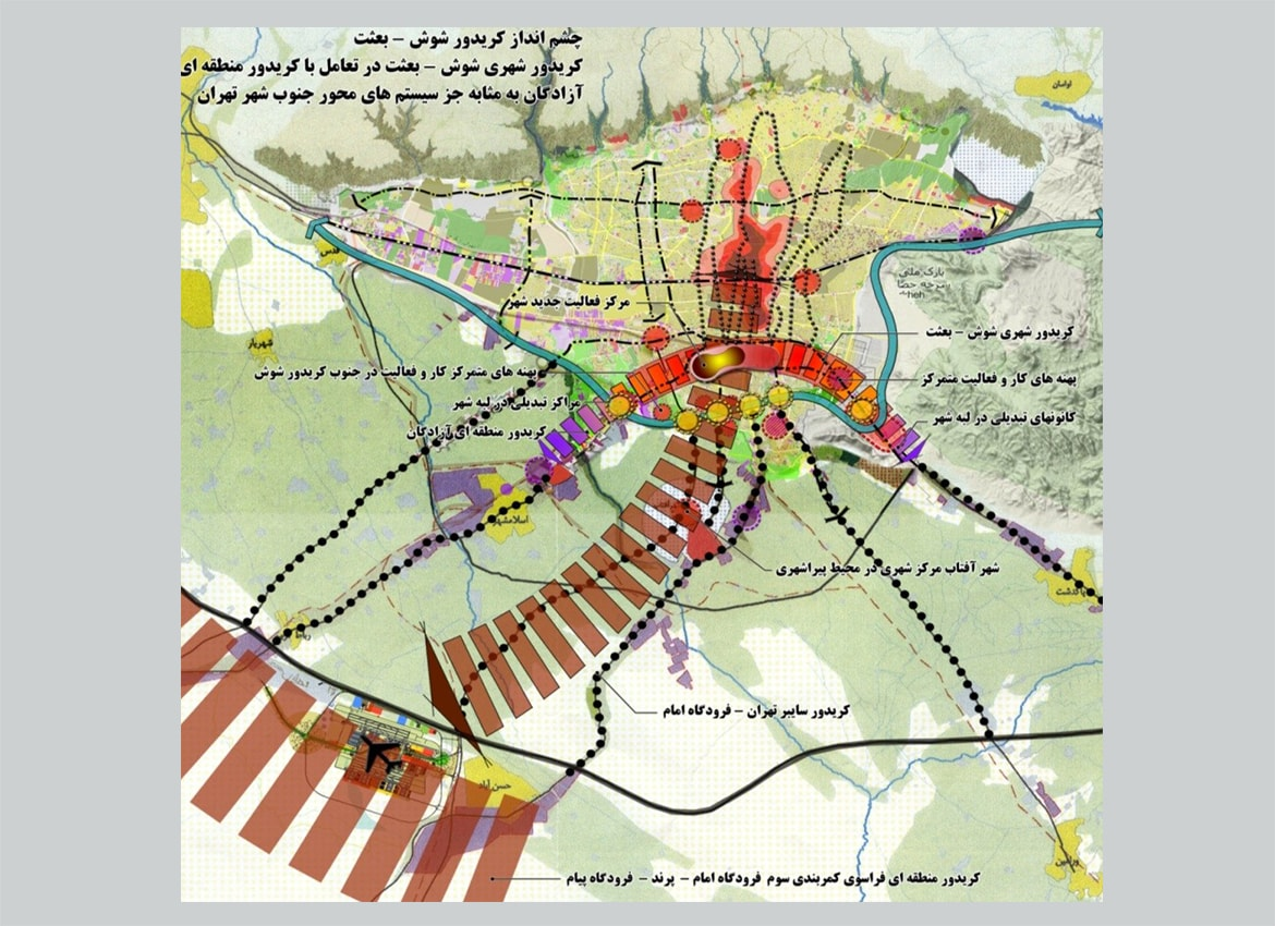 Urban design Framework of the southern axis of Tehran (Shosh-Behsat)